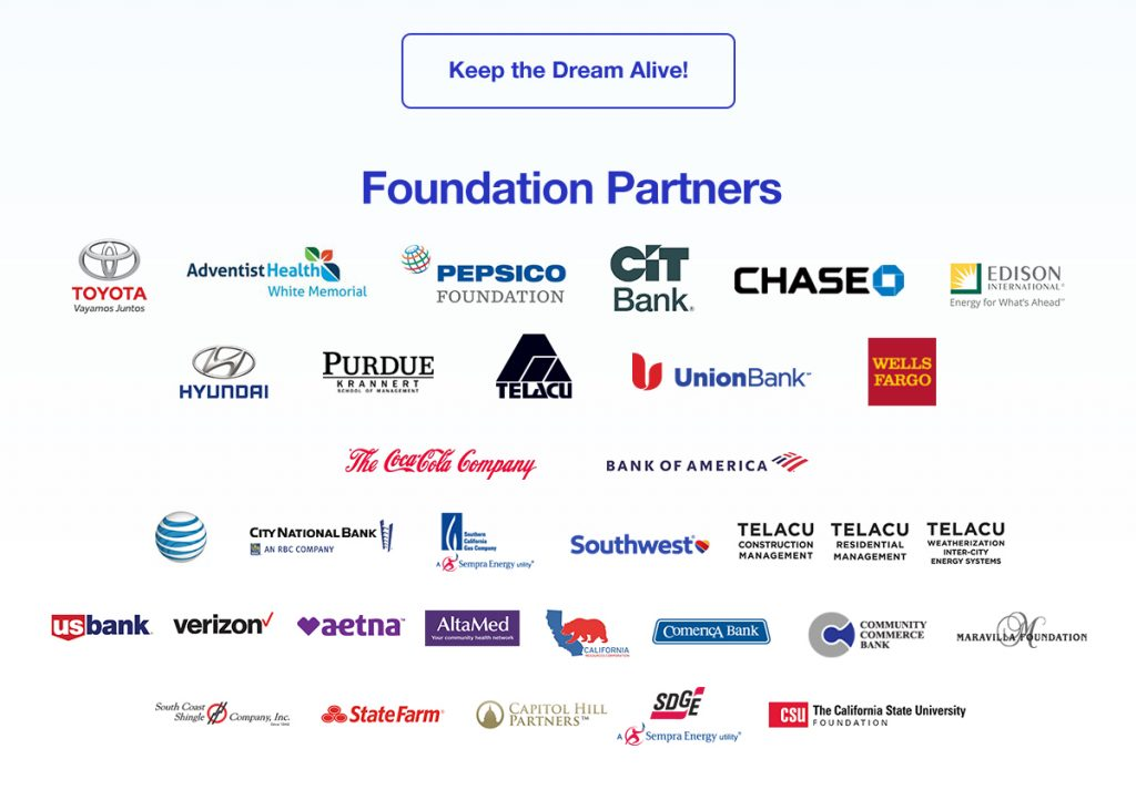 Our Foundation Partners; support TELACU by clicking to dnoate
