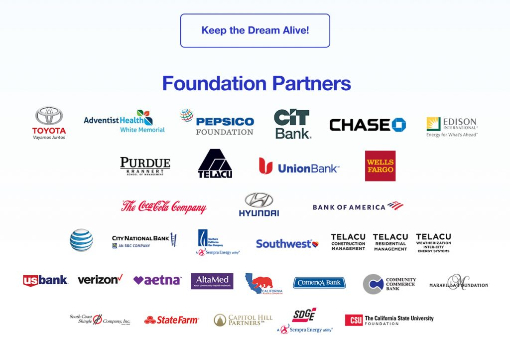 Thanks to our TELACU Foundation Partners. Keep the dream alive by donating now